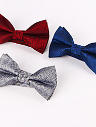 Blue And red Silver Grid Bow Ties