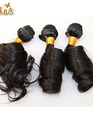 "3Pcs/Lot 10""-26"" Mongolian Virgin Hair Color Natural Black Egg Curl Human Hair Wefts"
