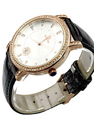 Holiday Sale 2014 New Arrival Genuine Cow Leather Watch with Calender Men Women Ladies Fashion Dress Wrist Watch
