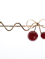 European Style Fashion Simple Manual Red Cherry Hairpin