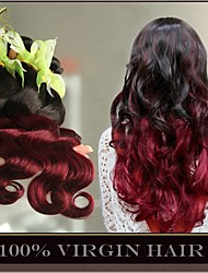 3 Pcs/Lot Ombre Brazilian Virgin Hair Extensions Body Wave Two Tone 1B/99J Burgundy Wine Red 6A Human Hair Weave Bundles