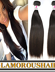 """3 Pcs/Lot 8""""-34"""" European Remy Hair Weave Color 1B Natural Looking Straight Hair Extension For Black Women"""