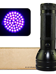LED Flashlights / UV Flashlight LED 1 Mode 400lm/150lm LumensWaterproof / Impact Resistant / Nonslip grip / Ultraviolet Light /