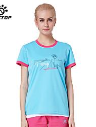 Femme Hauts/Tops / T-shirt Camping & Randonnée / Pêche / Fitness / Sport de détente Respirable / Séchage rapide EtéJaune / Rouge / Bleu /