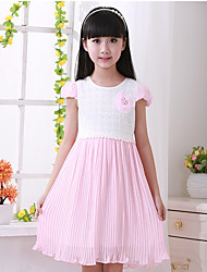 Girl's New Cuhk Children Short Sleeves Dress