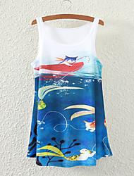 Women's Sleeveless Cute Animal Graphic Printed Vest