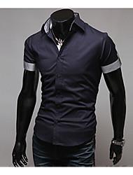 Informeel MEN - Vrijetijds shirts ( Katoen )met Korte Mouw
