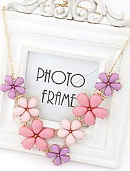 New Arrival Fashional Popular Fresh Gem Flower Necklace