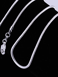 Women's Choker Necklaces Chain Necklaces Silver Plated Fashion Silver Jewelry Wedding Party Daily Casual 1pc