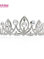 Neoglory Jewelry Austrian Rhinestone Drop Tiara Crown Hair Comb for Lady Wedding Pageant Prom