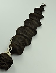 "12""-26""Peruvian Virgin Hair Loose Wave Clips Hair Extensions Natural Black Color"