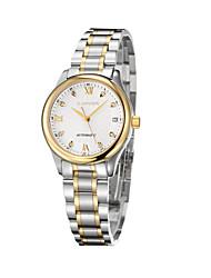 GUANQIN® Часы класса люкс с автоподзаводом, стальным ремешком, с календарем, водонепроницаемые