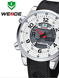 WEIDE Men Unique Design Fashion Sports Military Army Rubber Strap Wrist Watch