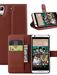 For HTC Case Card Holder / Wallet / with Stand / Flip Case Full Body Case Solid Color Hard PU Leather HTC
