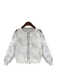 Women's Printing Fashion Organza Jacket