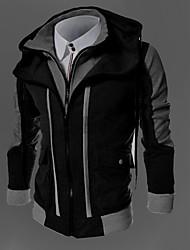 Men's Hoodie Coats & Jackets , Acrylic / Organic Cotton Long Sleeve Casual / Work Fashion Winter / Fall TOPHERE