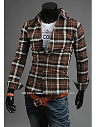 Hot Sell Summer Style 2015 Brand Long-Sleeve Shirt Men Clothes Hawaiian Shirt