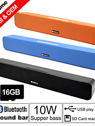 Besteye® 16GB TF Card and G-807P 10W HIFI Sound Bar Speakers FM Aux remote control Stereo Bluetooth Speaks Wireless