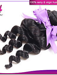 Indian Virgin Loose Wave Hair 3Pcs Lot 100% Remy Human Hair EXtensions Natural Black #1B Color
