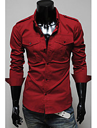 High-Quality Mens Shirts Fashion 2015 Long-Sleeve Shirt 3 Color Hot Sell