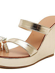 Women's Shoes Wedge Heel Wedges Sandals Outdoor/Dress Silver/Gold