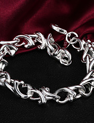 Silver Plated Fashion Chain & Link Bracelets Party/Daily 1pc