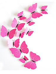 Papillon de couleur 3d stickers muraux Stickers muraux de style pvc rouge stickers muraux