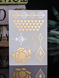 4PCS Flash Tattoo Gold Tattoo Taty Metallic Tattoo Flash Tatoo Tatouage Temporary Tattoo Sticker Body Metal Tatoos