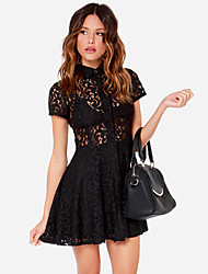 Women's American Apparel Lace See-Though Sexy Slim Fit Dress