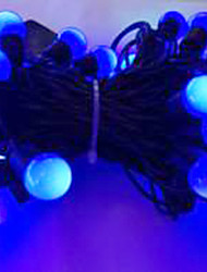 6w 5 metro di diametro esterno lampadina 50pcs ha condotto le luci della stringa di modellazione piccole luci a sfera, colore blu