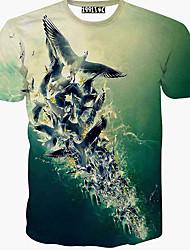 Men's Casual 3D Printing Short Sleeve T-Shirts