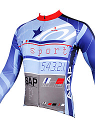 PALADIN® Cycling Jersey Men's Long Sleeve BikeBreathable / Quick Dry / Ultraviolet Resistant / Back Pocket / Reduces Chafing /