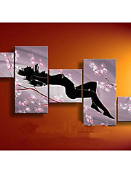100% Hand-painted Abstract Plum Sexy Nude Women Oil Painting on Canvas 5pcs/set No Frame