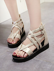 Women's Shoes Faux Leather/ Flat Heel Gladiator/Creepers Sandals/Flats Office & Career/
