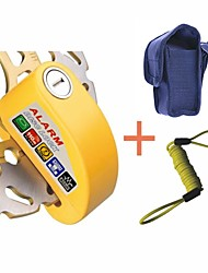 6mm Pin Yellow Security Anti Thief Motorbike Motorcycle Scooter Wheel Disc Brake Alarm Lock with Bag & Reminder Cable