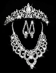 Bijoux Colliers décoratifs / Boucles d'oreille / Bijoux de Cheveux Mariage / Soirée Acrylique 1set Femme Argent Cadeaux de mariage