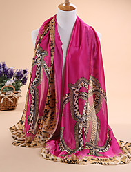 Hot selling new Ms fashion satin scarves long scarf shawls leopard print design