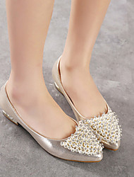 Women's Shoes Synthetic Flat Heel Comfort Flats Casual Silver/Gold