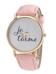 Women's  PU Band Quartz Wrist Watch (Assorted Colors)