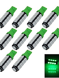 10X Green T10 17 SMD 5050 LED Car Clearance Reading Lamp Side Light DC 12V A014
