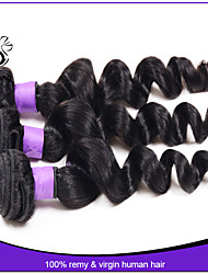 Brazilian virgin hair loose wave 3pcs/lot 100% unprocessed brazilian virgin hair Cheap Brazilian loose wave