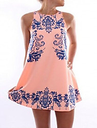Women's Sexy Print Strap Mini Dress