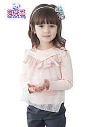 Waboats Winter Kids Girls Lace Bow Yarn Long Sleeve Top