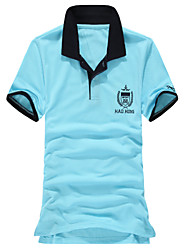 Men's Short Sleeve Polo , Cotton Casual/Work/Formal/Sport Print
