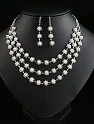 Women Party/Casual Fashion Noble Flower Alloy/Cubic Zirconia Necklace/Earrings Sets