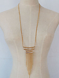 New Arrival Fashional Hot Selling Simple Tassel Necklace