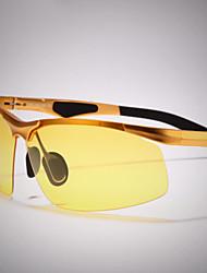 Gafas de Sol hombres's Ligeras Envuelva Dorado Gafas de Sol / Conducción / Gafas de visión nocturna Media Montura