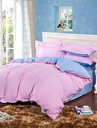 encore aloe vera coton couleur pure doubles 4 fois rose, bleu