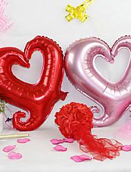(5 piezas) coloridos globos amor gancho de cinturón de aluminio de 18 pulgadas de color rosa (color al azar)