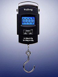 Portable Handheld Digital Scale 45Kg Weight On Off TARE UNIT Electronic Hanging Luggage Scale Steel Handle